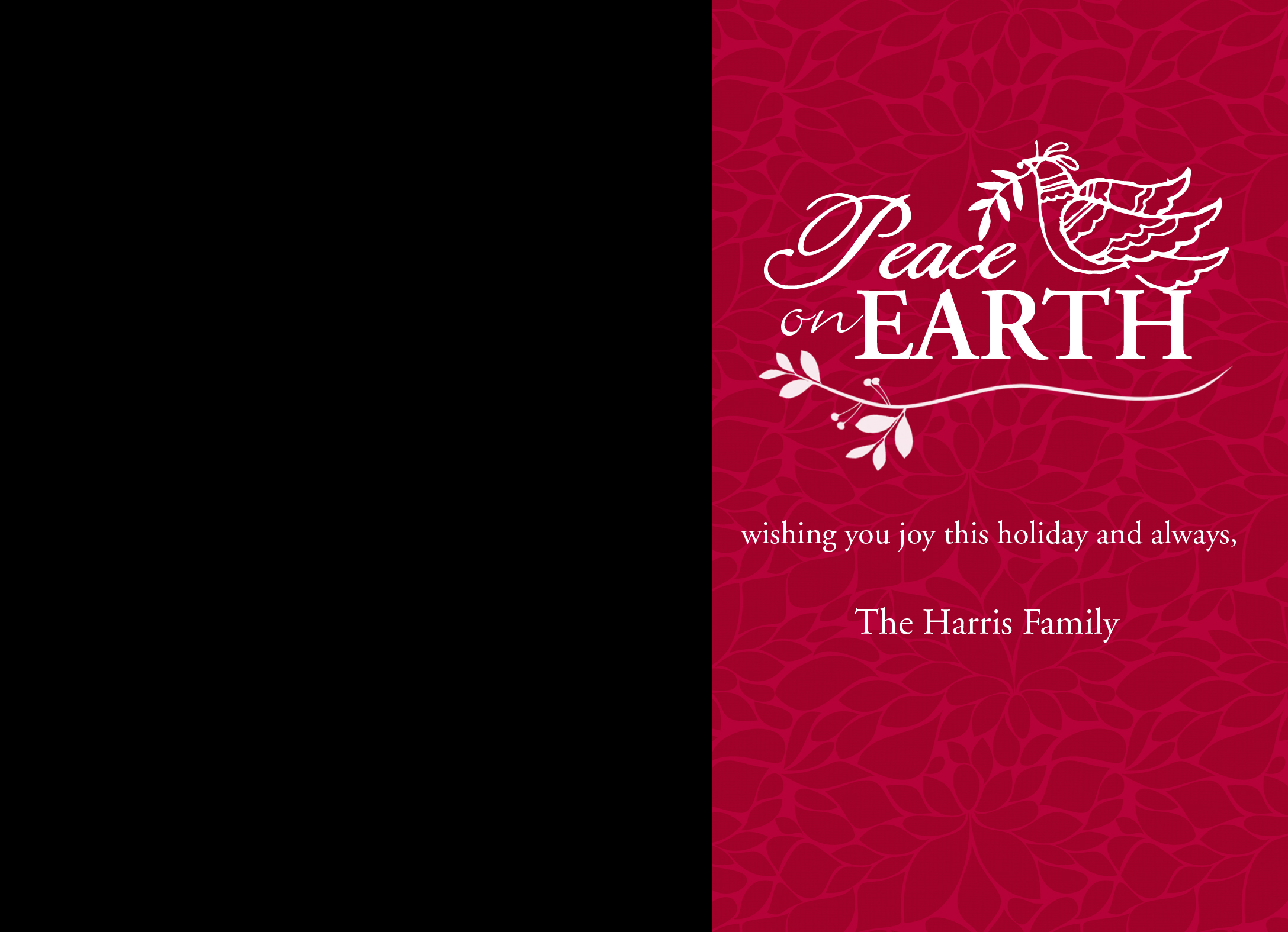 Peace on Earth greeting cards with envelopes