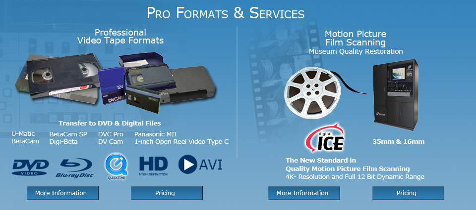 Pro Formats & Services
